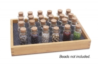 Wood Bottle Storage Tray, 20 Bottles, 7-1/4 by 5-1/4 by 1 Inches||PKG-210.20