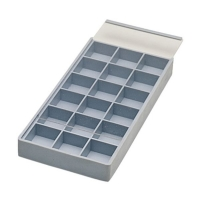 Compartment Tray with Sliding Lid, 18 Compartments||PKG-310.00