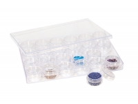 Plastic Storage Container, 24 in 1, 9 by 6 by 3/4 Inch||PKG-325.24