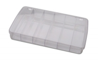 Compartment Box with Hinged Lid, 6 Compartments, 11 by 6-3/4 by 1-3/4 Inches||PKG-350.06