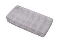 Compartment Box with Hinged Lid, 12 Compartments, 8-1/4 by 4-1/2 by 1-3/8 Inches||PKG-350.12