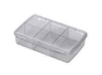 Compartment Box with Hinged Lid, 6 Compartments, 4-5/8 by 3 by 1-1/8 Inches||PKG-352.06