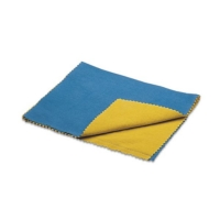 "Euro Tool Double ""Brilliant"" Polishing Cloths, Large, Blue and Yellow