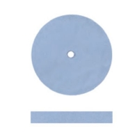 Unmounted Silicone Polisher, Square Edge, Light Blue, Fine Grit, 100 Pack||POL-301.30