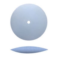 Unmounted Silicone Polisher, Knife Edge, Light Blue, Fine Grit, 12 Pack||POL-310.30