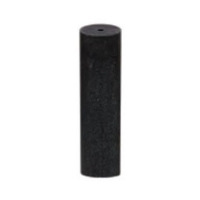 Unmounted Silicone Polisher, Cylinder, Black, Medium Grit, 12 Pack||POL-320.20