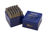 Number and Letter Punch Set, 36 Piece Set, 1/4 inch||PUN-105.94