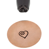 Elite Design Stamp, Heart with Swirl||PUN-203.45