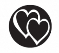Elite Design Stamp, Overlapping Hearts||PUN-203.66