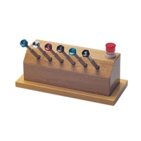 Reversible Blade Screwdriver in Wooden Stand Set, 6 Piece Set, Sizes #4-9||SCR-373.00