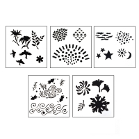 DESIGN STENCILS FOR ENAMELING - ECHOES, 5PC||STL-100.00