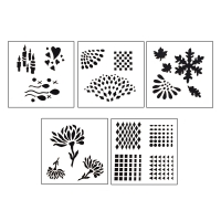 Design Stencils - Reflections - 5 Pieces||STL-120.00