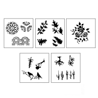 DESIGN STENCILS FOR ENAMELING - SECRET GARDEN, 5PC||STL-130.00