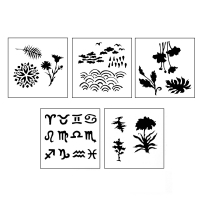 DESIGN STENCILS FOR ENAMELING - UNIVERSE, 5PC||STL-140.00