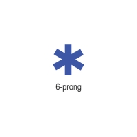 COWDERY 6-PRONG, 8MM X 0.75MM||WAX-282.48