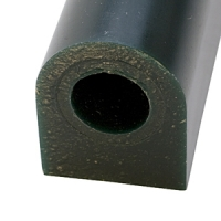 Carving Wax Ring Tube, Large Flat Side Tube, Dark Green||WAX-322.30