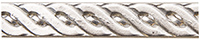 STERLING SILVER PATTERN WIRE-ROPE- 8"
